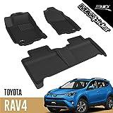 3D MAXpider Toyota RAV4 XA40 2016-2018 Hybrid Tapis de Sol Voiture en Caoutchouc pour Tous Temps Antidérapant Imperméable Recouvrement Total