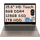 2021 Flagship Lenovo Ideapad 3 15 Laptop Computer 15.6' HD Touchscreen 10th Gen Intel Core i3-1005G1(Beats i5-7200U) 8GB DDR4 128GB SSD 1TB HDD Dolby HDMI Webcam WiFi Win 10 + iCarp Wireless Mouse