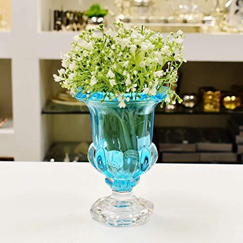 Vaso De Cristal C/pé Sussex Turquesa 12x15cm Wolff Sussex Turquesa