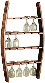 Wine rack, multi-function, large capacity, Wall Mount Wine Rack Solid Wood Wine Rack Hanging Holder 18 L Glass Wine Rack Storage Unit Floating Bar Shelves Accessories Application for restaurants daily