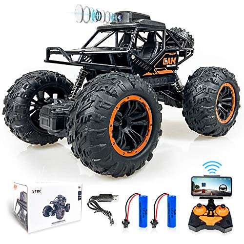 1:18 Remote Control Car, Camera Alloy Off Road RC Truck 4WD High Speed Fast Racing Electric Hobby Toy Off Road 2.4Ghz All Terrain Monster Vehicle Truck for Boys Kids Xmas Birthday Gift (1:18)