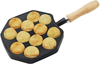 Cooking Pots Pans Takoyaki Nonstick Waffle Maker Small Balls Egg Bubble Pan Cast Iron Alloy Eggettes Pan Cake Baking Mold ...