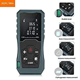 POSMA LRF-J080 デジタルレーザー距離計 面積算出 容積算出 ピタゴラス算出 Digital Laser Distance Meter 262Ft 80m, Backlit LCD Laser Measure, Laser Measuring Device with Single-distance, Continuous, Area, Volume Measurement and Pythagorean Modes