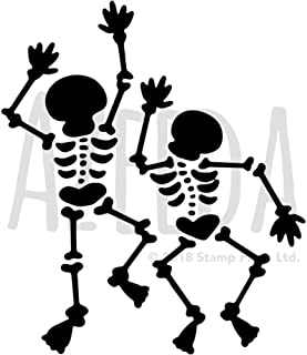 Azeeda A4 'Dancing Skeletons' Wall Stencil / Template (WS00021543)