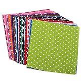 CLISPEED 50 Piezas de Tela de Retazos de Algodón Cuadros de Paquetes de Tela Artesanal Telas de Costura Impresas por Puntos para Ropa de Costura Acolchada Artesanal de Bricolaje (Color Surtido)