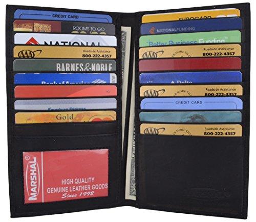 New High End Leather Bifold Credit Card Holder #1529CF Black