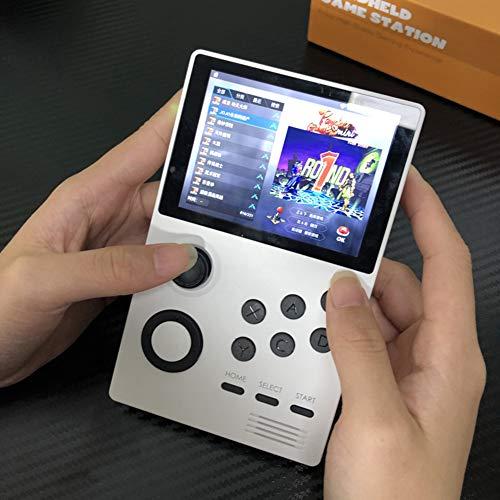 DZSF Android Supretro Handspiel-Konsole Pandoras Box IPS-Bildschirm Built-In 3000 + Spiele 30 3D-Spiele WiFi Herunterladen,Weiß