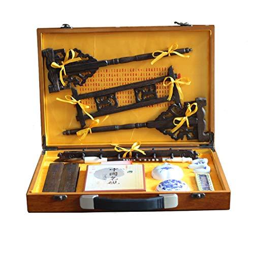 Chinesische Kalligraphie Pinsel Schreiben Malerei Set, Schreibpinsel Tinte Papier Inkstone Kit, Zubehör Geschenk Für Anfänger