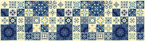 Tape Design KU-NA1001-140 Passatoia, Microfibra di Ciniglia di Poliestere, Multicolore-Blu, 52X140