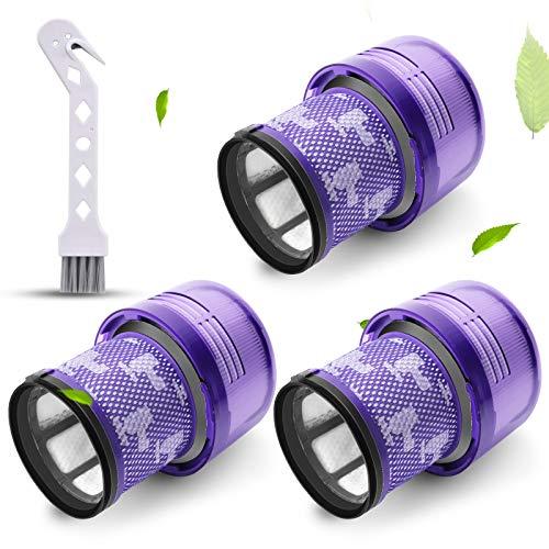 Filtro para filtros de vacío Dyson V11, 3 Pack Reemplazo para vacío inalámbrico V11, V11 Torque Drive Vacuum y V11 Animal.Compare to Part # 970013-02(V11)