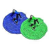 TechnoCrafts Expandable Magic Garden Hose Reel 30 mtr Each Hose Pipe Green & Blue (Pack of 2) Hose...