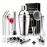 Cocktail Shaker Set,Bartender Kit, Baban 17 Pcs Stainless Steel Bar Tool Sets with 18oz Cocktail...