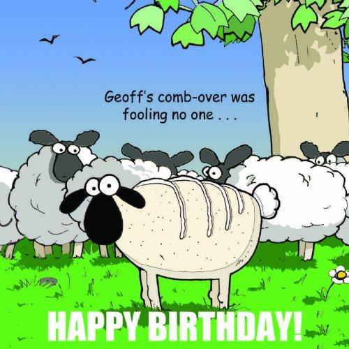 Twizler - Lustige Geburtstagskarte mit Schaf für Männer, humorvolle Grußkarte, lustige Glückwunschkarte zum Geburtstag, Jubiläumskarte, Vatertagskarte