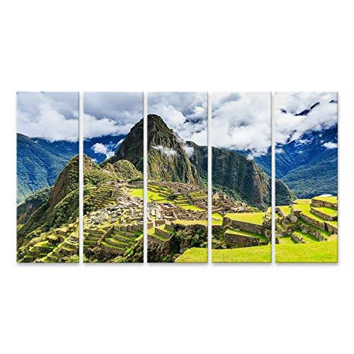 Cuadro en lienzo Machu Picchu Perú, Patrimonio de la Humanidad de la UNESCO, una de las nuevas siete maravillas del mundo. Cuadros Modernos Decoracion Impresión Salon
