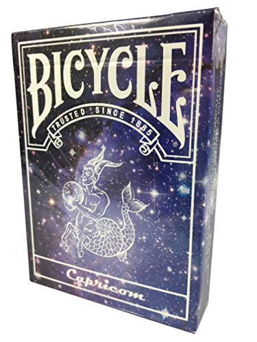 Bicycle Constellation Series Limited Edition Steinbock-Version, Capricorn Deck | USPCC Playing Cards Pokerkarten | Bonus 3 Look and Feel-Karten Gratis | Sternen-Konstellation Sonderedition Spielkarten