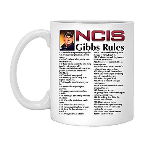 NEW NCIS Gibbs Rules 69 Rules Coffee Ceramic Mug Travel Cup