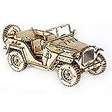 obzk Kit de Modelo de Coche de Madera, Kit de construcción de Modelos de Coche de Rompecabezas de Madera 3D DIY Set de Juguetes de Juego de Rompecabezas para niños y Adultos MC 701