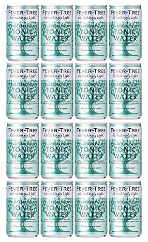 Fever-Tree Refreshingly Light Elderflower Tonic Water 16 x 150 ml (Pack of 2 Total 16 Cans)