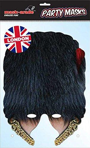 empireposter Coldstream Guard Bearskin Masque en carton brillant avec trous pour les yeux