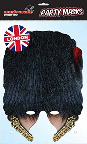 empireposter Coldstream Guard Bear Skin Masque en Carton Brillant, avec Trous pour Les Yeux de Haute qualité