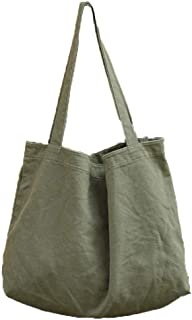 BOBILIKE Women Shoulder Bags Canvas Tote Bag Handbag Work Bags