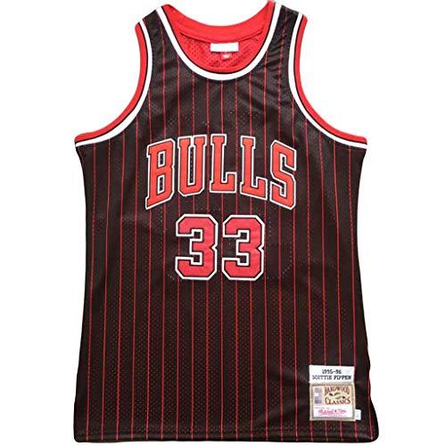 WYQ # 33 Scottie Pippen Chicago Bulls 1995-96 Meisterschaft Retro Trikot-L