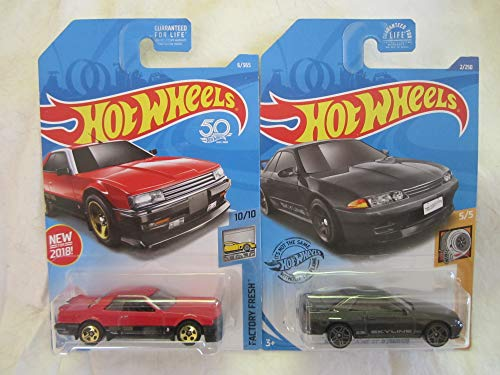 Hot Wheels Nissan Skyline GT-R Gray & Red '82 Nissan Skyline R30 Die Cast 2 Car Bundle!