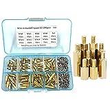 240 unids/set M3* 4/5/6/8/10/12/14/16mm tuerca hexagonal tornillo de espaciado latón pilar roscado PCB placa base separador kit