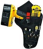 BAIGIO Bolsa de Herramientas con Cinturón de Nailon Ajustable Bolsa para Electricista del Organizador del Sostenedor Bolsillo Porta Herramientas para Cinturón (Rojo)