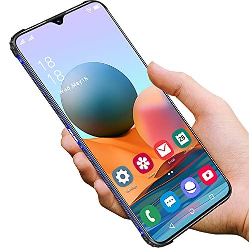 Günstige kostenlose Handys 5G, Android 11.0 4GB RAM 64GB ROM Handys 7.0 Zoll Water-Drop Screen FHD, kostenloses Smartphone Dual SIM 6800mAh Kamera 32MP 50MP Face ID Free Handys und Smartphone