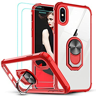 Amazon - Save 50%: LeYi iPhone X Case, iPhone Xs Case with Tempered Glass Screen Protector [2…