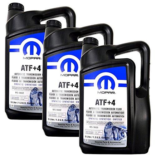 Mopar Automatic Transmission Fluid ATF+4 - 5 Liter (1.3 Gallon) 3 Pack