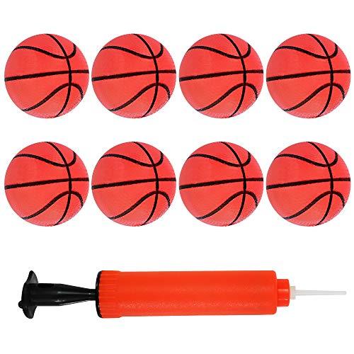 CYFIE 8 Stücke Mini Basketball kit Mini Hoop Basketbälle Pool Basketball Spielzeug mit Pumpe für Strand Pool Sport Spiel Partei Liefert