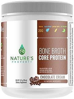 Chocolate Bone Broth Protein Powder, Grass Fed Beef, 20 Servings (18oz), Vital Collagen Peptides + Gelatin, Gluten Dairy, Egg & Nut Free, Keto and Paleo Friendly