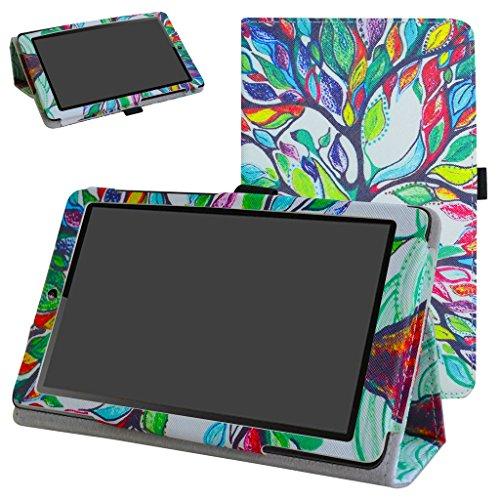 MAMA MOUTH Huawei MediaPad T3 7 Tablet Custodia, Slim Sottile di Peso Leggero con Supporto in Piedi Caso Case per 7.0  Huawei MediaPad T3 Tablet PC,Love Tree
