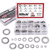 Hilitchi 400-Pcs 304 Stainless Steel External Internal Tooth Star Lock Washers Assortment ...
