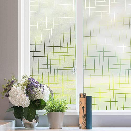 3D Decoratief Venster Zelfklevende Privacyfolie, Anti-UV Window Tint Glass Sticker Privacy Glass Tint voor Home Office Windows, 75x300cm