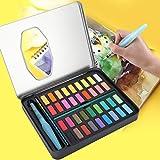 Pigmento de pintura, suministros de arte, pigmentos de acuarela de 36 colores, kit de viaje, regalo para artistas, aficionado para principiantes
