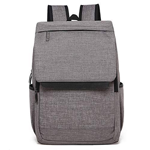 Laptop Bag, Universal Multi-Function Canvas Laptop Computer Shoulders Bag Leisurely Backpack Students Bag, Size: 42x30x12cm, Portable Notebook Computer Carrying Case Bag (Color : Light Grey)