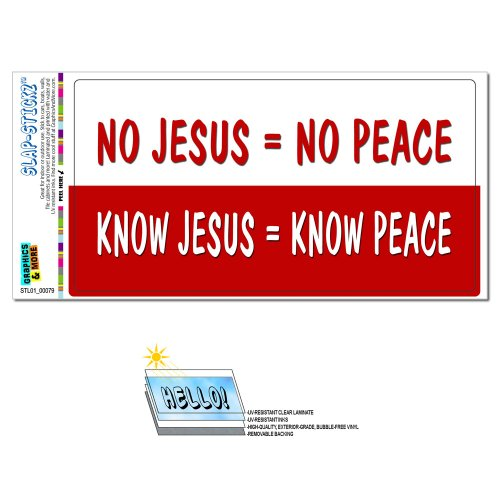 Best know jesus know peace decal for 2021
