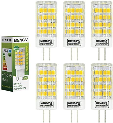 MENGS 6 Stück G4 LED Lampe 5W AC/DC 12V Kaltweiß 6500K 51x2835 SMD Mit Keramic und ACRYLIC Material