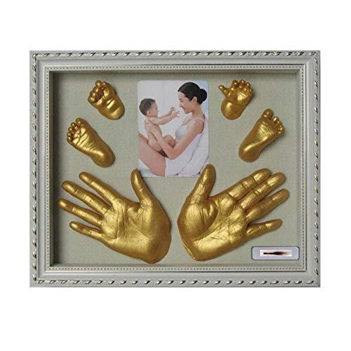 Dltmysh Footprint Kit & Handprint Kit 3D Plaster Handprint Footprint Baby Mould Hand Foot Casting Prints Kit Cast Gift