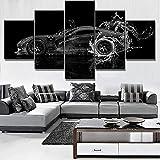 Lienzos decorativos Coche acuático Dodge Viper-150x80 CM Cuadros Modernos Impresión de Imagen Artística Digitalizada Lienzo Decorativo Para Salón o Dormitorio 5 Piezas