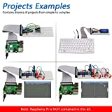 Freenove Ultimate Starter Kit for Raspberry Pi 4 B 3 B+ 400, 434-Page Detailed Tutorials, Python C Java Code, 223 Items, 57 Projects, Solderless Breadboard
