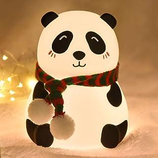 Goeco LED Night Lights Colorful Silicone Panda Lamp, USB Ricaricabile Touch Sensor Cartoon Light Camera da Letto Dormitori...