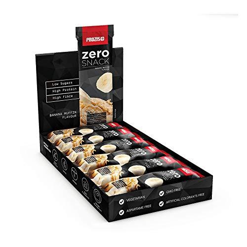 Prozis Zero Snack Barra Rico En Proteína y Bajo en Hidratos de Carbono y Azúcares, Magdalena de Plátano - 12 x 35 g