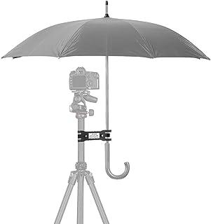 Elerose Clip para Paraguas cámara SLR para Exteriores Clip para Proteger del Sol Soporte para Abrazadera Trípode Fotografía Accesorios Cámara Trípode Lámpara de pie Accesorios
