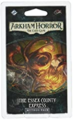 The second mythos Pack in the Dunwich Cycle for Arkham Horror: The Card game A new train ride adventure thrusts investigators into confrontations with otherworldly Terrors Randomized locations greatly enhance the adventure's replay ability Twenty-eig...