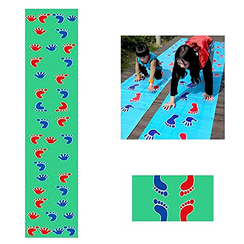 ZXZCHGN Hand Foot Hopscotch Game Pad, Hands and Feet Game Pad Team Expand Props, 19.6 Ft Hand and Feet Training Race Mat, Outdoor Training Group Building Fun Game Pads Children Kids Games Toy Mat