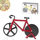 Bicicleta Cortador de Pizza, Antiadherente Cortapizzas con Revestimiento Antiadherente con Soporte ,apto para hogar y...